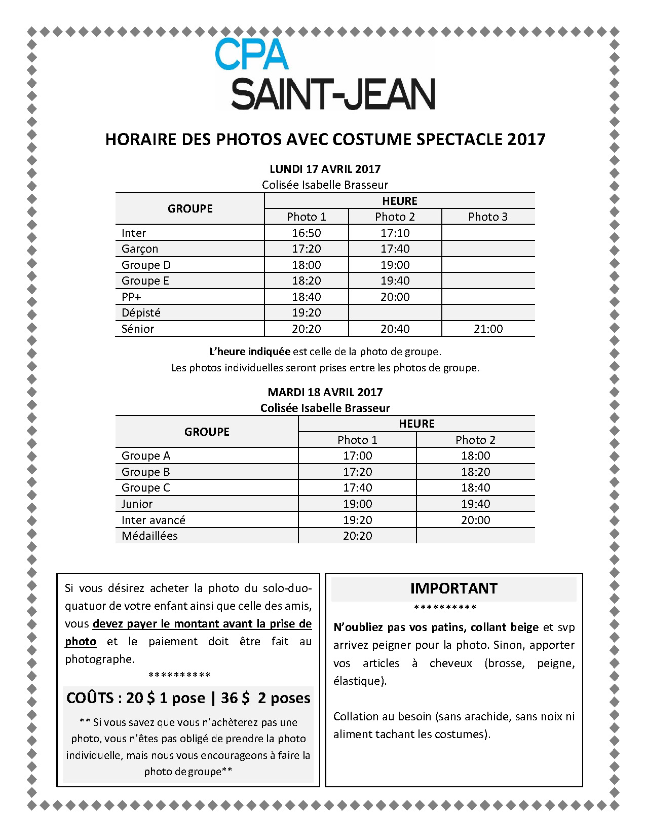 2017 - Horaire photo Costumes_V3